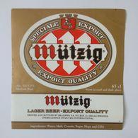 Etiquette Brasserie Mutzig Rwanda - Beer