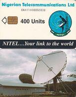 NIGERIA - Earth Station, Nigerian Telecom Ltd First Chip Issue 400 Units(6NAIFIA), Chip Sie 37, Used - Nigeria