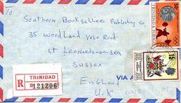 TRINIDAD & TOBAGO. N°310 De 1972 Sur Enveloppe Ayant Circulé. Haltérophilie Aux J.O. De Munich. - Haltérophilie