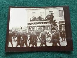 Petite Photo Charrette Gare De Jarny  Visite De Saint Cyr Avant 1914 9 X 6,5 Cm - Documents