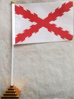 Banderín Bandera España. Cruz De Borgoña. Tercios. 1506-1785. De Sobremesa - Drapeaux
