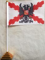 Banderín Bandera España. Águila Bicéfala Imperial. Cruz De Borgoña. Tercios. 1506-1785. De Sobremesa - Drapeaux