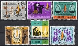 Qatar, 1968, Human Rights Declaration, United Nations, MNH, Michel 335-340 - Qatar