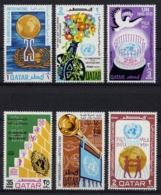 Qatar, 1970, United Nations 25th Anniversary, MNH, Michel 433-438 - Qatar