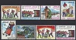 Qatar, 1971, International Year Against Racism, United Nations, MNH, Michel 466-473 - Qatar