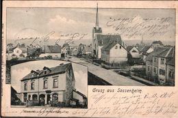 ! 1900 Alte Ansichtskarte Gruss Aus Sossenheim, Warenhaus Fay, Frankfurt A.M., Hessen - Frankfurt A. Main