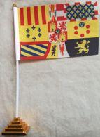 Banderín Bandera Pabellón Naval De Gala. España. 1701-1760. De Sobremesa - Drapeaux