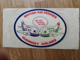 British Air Ferries / Guernsey Airlines Sticker - Stickers