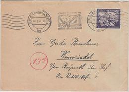 DR - 24 Pfg. Kameradschaftsblock Reichspost Brief Berlin - Wunsiedel 7.1.45 - Allemagne