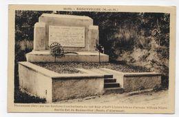 (RECTO / VERSO) BADONVILLER EN 1935 - MONUMENT DU 358e REGIMENT D' INFANTERIE - CPA VOYAGEE - Autres Communes