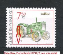 Czech Republic 2005 MNH ** Mi 446 Sc 3282 Historical Tractors. Plate Flaw Tschechische Republik. - Tchéquie