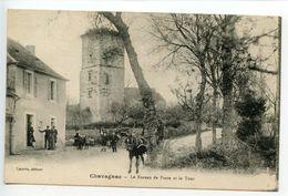 Chavagnac Le Bureau De Poste Et La Tour - France