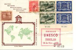 39025 Cuba 1958 UNESCO 2 Sets On FDC - FDC