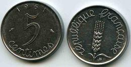 France 5 Centimes 1961 GAD 174 KM 927 - C. 5 Centimes