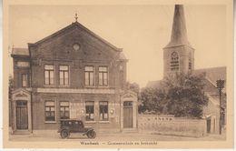 Wambeek - Gemeentehuis En Kerkzicht - Oldtimer - Em. Beernaert, Lokeren - Ternat