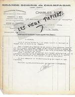 10 - Aube - ST-JULIEN-LES-VILLAS - Facture NOËL - Scierie, Exploitations Forestières, Commerce De Bois - 1940 - REF 150 - France