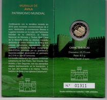 2 EUROS ESPAGNE - MURAILLES D'AVILA - BE 2019 -COINCARD - Euros Des Villes