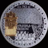 ARMENIA 5000 DRAM SILVER COIN PROOF 2018 Yerevan 2800 Erebuni 2800 Erebouni 2800 - Arménie
