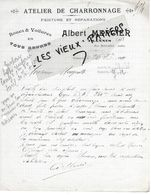 10 - Aube - TRANNES - Facture MERCIER - Charronnage - 1919 - REF 150 - France