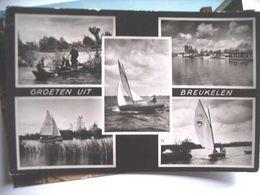 Nederland Holland Pays Bas Breukelen Met Zeilboten En Roeiboot - Breukelen