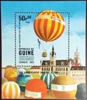 Guinea Bissau 1983 Manned Flight Balloons Minisheet MNH - Guinea-Bissau
