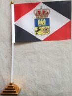 Banderín Bandera Reino De Nápoles. José Napoleón Bonaparte. 1805-1808. Guerras Napoleónicas. De Sobremesa - Drapeaux