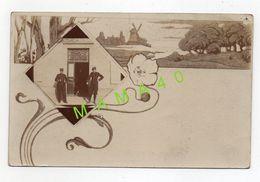 CARTE PHOTO DE 1907 - MILITARIA - 22 - SOUVENIR DE BROONS - 2 MILITAIRES DEVANT UNE PORTE - Personajes