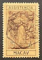 MAC6810U - Postal Tax 5 Avos Our Lady Of Mercy Used Stamp  - Macau 1930 - Macao