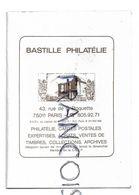 Publicité Pour Bastille Philatélie, Rue De La Roquette à Paris. - Calendriers