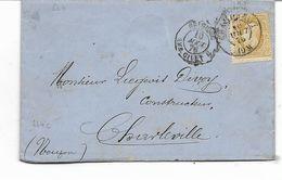 1876- N° 32- 25c -lettre CHARBONNAGES DE GRAND MAMBOURG- MONTIGNY- Cachets BELGIQUE AMB. GIVET + FRANCE NAMUR Au Dos+ CH - Marcophilie (Lettres)