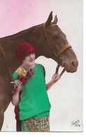 L100G186 -  Jeune Femme Avec Son Cheval - Super N°979 - Women