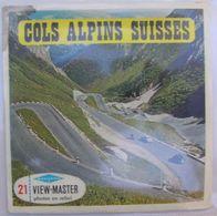 VIEW MASTER  : C 127   COLS ALPINS SUISSES :  POCHETTE DE 3 DISQUES - Visionneuses Stéréoscopiques
