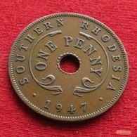 Southern Rhodesia 1 One Penny 1947 KM# 8a *V2 Rodesia Do Sul Rhodesie - Rhodesia