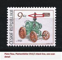 Czech Republic 2005 MNH ** Mi 447 Sc 3283 Historical Tractors. Plate Flaw Tschechische Republik. - Tchéquie