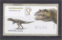 Portugal 2015 Etiquetas E-Post Dinossauros Ceratosaurus Sp. Animaux Faune Fauna Préhistorique Prehistoric - Stamps