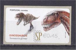 Portugal 2015 Etiquetas E-Post Dinossauros Torvosauros Gurneyi Animaux Faune Fauna Préhistorique Prehistoric - Stamps