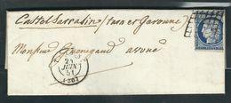 FRANCE 1851 N° 4 B Défectueux  Obl. S/Lettre Obl. Grille & C à D Toulouse - 1849-1850 Cérès