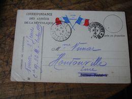 Carte Correspondance Armees Vive La France  2 Drapeau Centre - Marcophilie (Lettres)