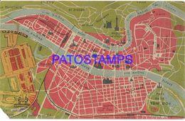 135613 FRANCE LYON VIEW GENERAL MAP CUT POSTAL POSTCARD - France