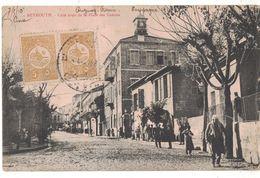 CPA BEYROUTH LIBAN COTE DROIT DE LA PLACE DES CANONS Correspondance  Pendant La CAMPAGNE DUGUAY-TROUIN 1910 - Lebanon