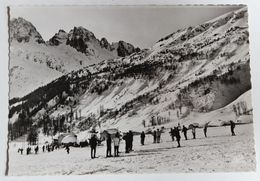 CPSM 74 Argentière Le Tour Le Téleski Skieurs Animés - Andere Gemeenten