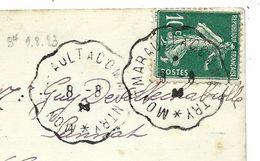 CONVOYEUR - ALLIER - De MONTMARAULT A COMMENTRY (1923) - Marcophilie (Lettres)