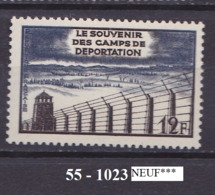 FRANCE ANNEE 1955 N°1023 NEUFI Infime Tace De Charniere - Nuovi