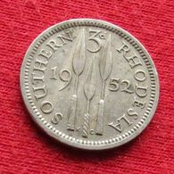 Southern Rhodesia 3 Pence 1952 KM# 20  Rodesia Do Sul Rhodesie - Rhodesia