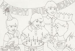 Irlande Eire Irland Irish Kiddy Color Card Cirque Circus Happy Birthday Postal Stationery Entier - Interi Postali