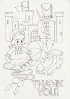Irlande Eire Irland Irish Kiddy Color Card Cirque Circus Thank You Postal Stationery Entier - Interi Postali