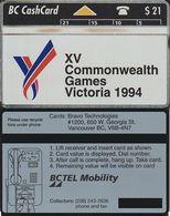 121/ Canada; XI Commonwealth Games Victoria 1994, CP 308A - Canada