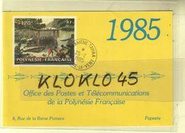 Calendrier MOYEN Format - 1985 Office Des Postes Et Télécommunications De La Polynésie Française Papeete - CARTE - Calendriers