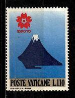 VATICAN  501° 110l Bleu, Rouge, Bleu-gris Et Or Exposition Universelle D'Osaka (10% De La Cote + 0,25) - Oblitérés