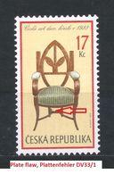 Czech Republic 2002 MNH ** Mi 341 Sc 3187 Furniture Czech Art Deco, Armchair 1923.Plate Flaw. Tschechische Republik - Tchéquie
